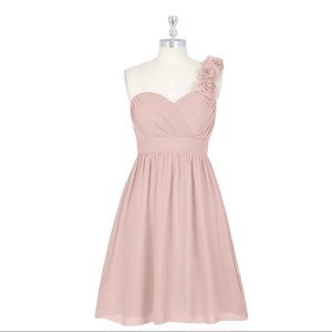 Azazie Alyssa Bridesmaid Dress Sz 2 Blushing Pink